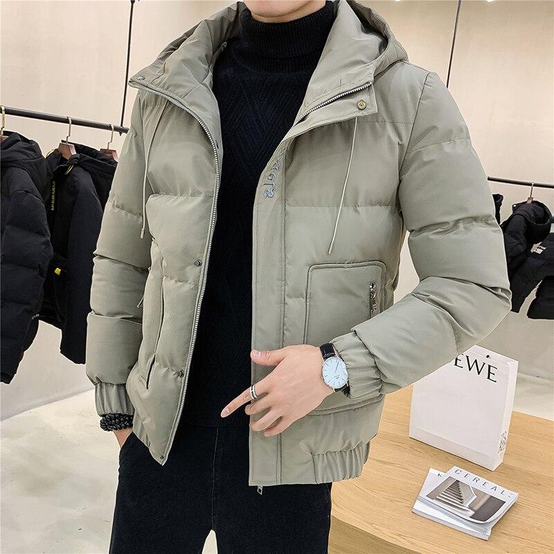 Men's Hooded Jackets Thickening Fleece Jacke Casual Zipper Mans Jacket Fashion Vintage Male Jackets Cotton Windbreaker Warm Coat