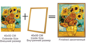 Factory Outlet Diy outer frame for canvas Numbers oil painting,painting diamond,Unique Combination,Art Picture frame Home Decor