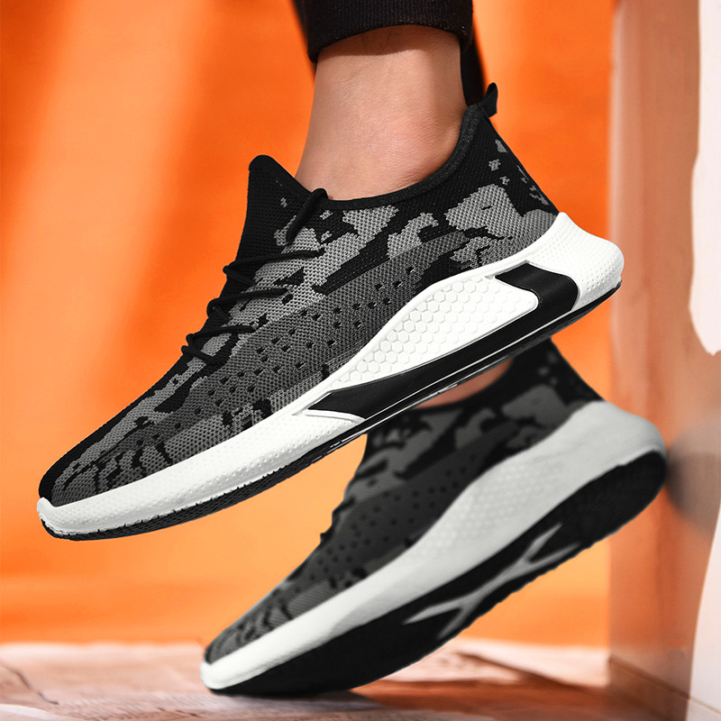 2020 New Men Casual Shoes Lace Up Men Shoes Lightweight Comfortable Breathable Walking Sneakers Tenis Feminino Zapatos