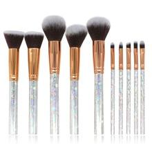 10pcs/set Makeup Brushes Set marble Handle Powder Foundation Eyebrow Eyeliner Face MakeUp Brush with makeup bag