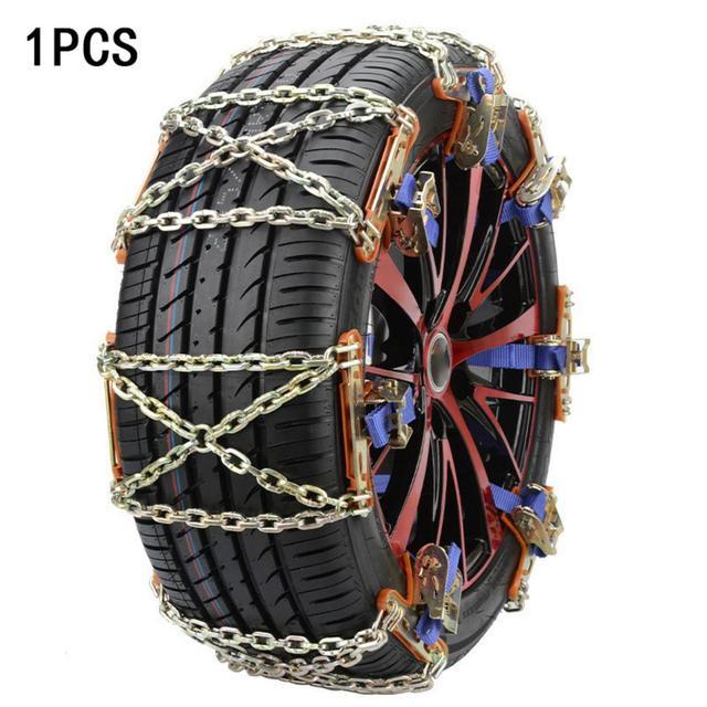 1Pcs Auto Emergency Snow Chains Wheel Tire Snow Anti-skid Chains Winter Roadway Safety Chains Snow Climbing Ground Anti Slip