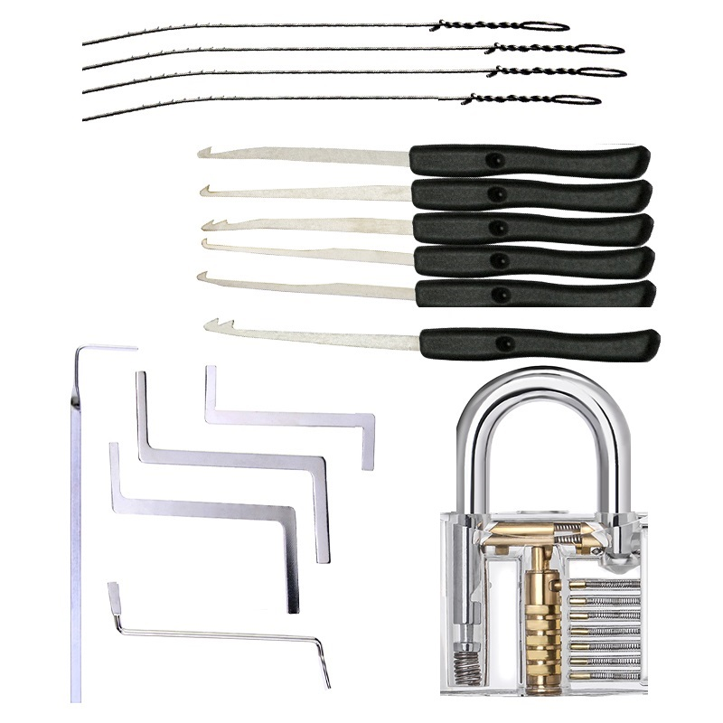 Lock-Extractor Wrench Pick-Set Removal-Hooks Hand-Tool Locksmith-Tools-Supplies Transparent-Lock
