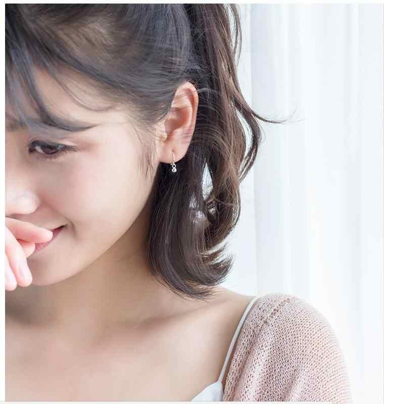 Trusta 925 solide en argent Sterling boucles d'oreilles femmes mode coeur/étoile petit amour goujon oreille Clip bijoux cadeau pour adolescentes DS904