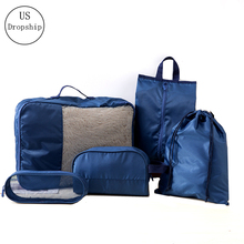 New 5Pcs/set Travel Luggage Organizer Thin and light Breathable Mesh bag Storage Clothes Bag Wash storage Accessories