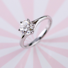 Matte & Shiny Finish 14k Rose & Yellow Gold Prong Setting D Color 8mm OEC Moissanite Stone 2mm Wide 1.8mm Thick Band Ring