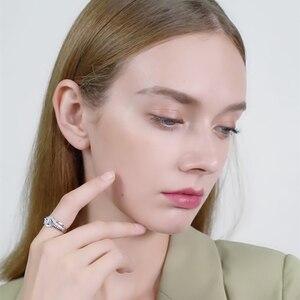 Image 4 - Bijou fin en argent Sterling 2020, auvent noir, tendance, Bague de fiançailles, anneaux de mariage pour femmes, nouvelle collection 925, C047