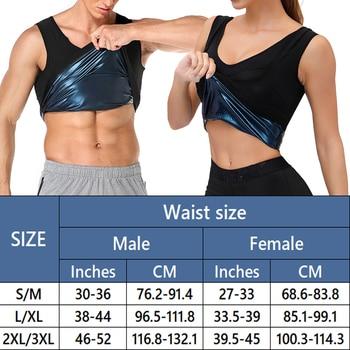 Men Neoprene Sweat Sauna Vest Body Shapers Vest Waist Trainer Slimming Tank Top Shapewear Corset Gym Underwear Women Fat Burn 2