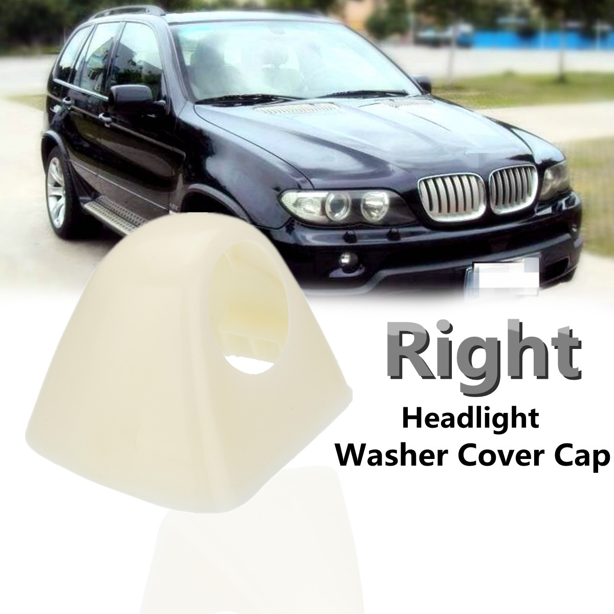 Car Right Side Headlight Washer Nozzle Cover Cap For BMW X5 E53 2003 2004 2005 2006