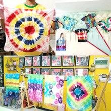 Делая красочные текстильные DIY Перманентная краска галстук краситель комплект ткань для рукоделия украшения аксессуары искусство