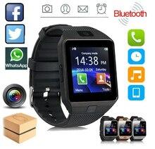 Bluetooth DZ09 умные часы фитнес-трекер умные часы браслет Relogio Relojes часы с камерой для телефонов IOS Apple Huawei Android