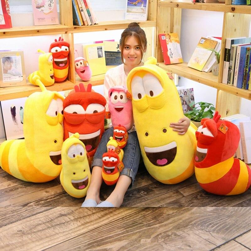 Милые насекомые плюшевые игрушки, личинка, мягкая плюшевая кукла для детей, забавные черви, игрушки, подарок ребенку на день рождения, 3 цвет...