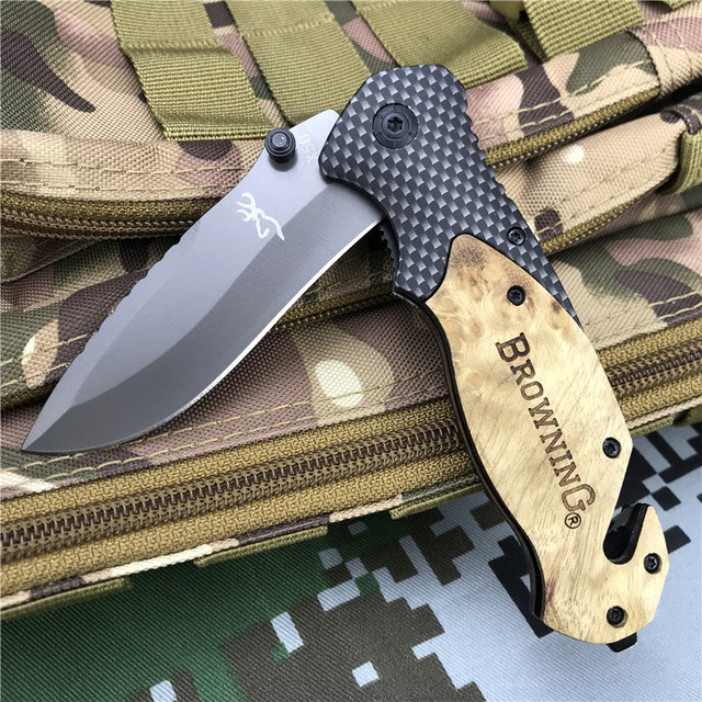 Browning Folding knife EDC Pocket knives Outdoor Portable High Hardness Hunting Camping tactical Multitool survival self defense 3