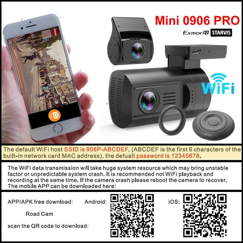 Conkim Dual 1080P Ống Kính Mini 0906 Pro Wifi GPS Ô Tô Dash Camera Ghi Hình Vòng Lặp Tầm Nhìn Ban Đêm RF Remote Điều Khiển Từ Xa DVR Xe Ô Tô