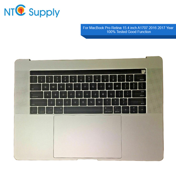 """NTC Supply New Topcase Assembly Space Grey Silver Battery Speaker USB jack Keyboard Touchpad Touch bar For Macbook Pro 15"""" A1707"""