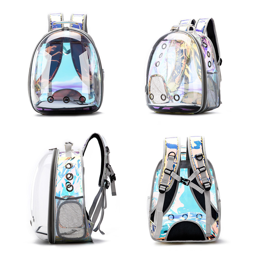 Free shipping Cat bag Breathable Portable Pet Carrier Bag Outdoor Travel backpack for cat and dog Transparent Space pet Backpack 1