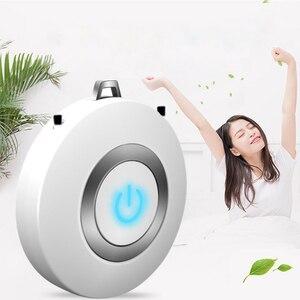 Image 2 - לביש אוויר מטהר שרשרת מיני נייד USB אוויר מנקה שלילי יון גנרטור נמוך רעש אוויר מטהר