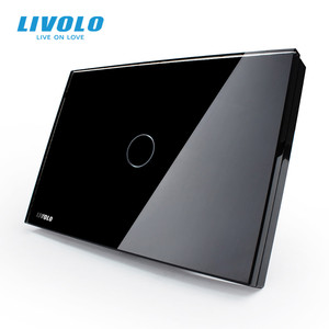 Image 2 - Livolo Touch Switch US standard White Crystal Glass Panel, AC110~250V, LED indicator, US Light Touch Screen Switch VL C301 81