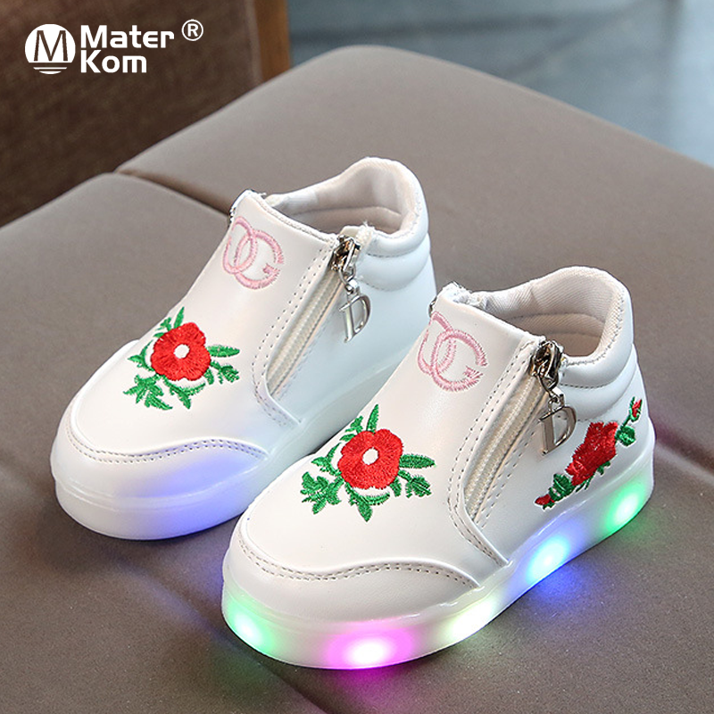 Size 21-37 Children's Luminous Shoes For Girls Glowing Sneakers Girls Lighted Sneakers Shoes Kid Sneakers With Luminous Sole