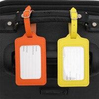Bunte Gepäck Tag Tasche Anhänger Handtasche Gepäck Name ID Tag Koffer Adresse Halter Tragbare PU Leder Label Reise Zubehör