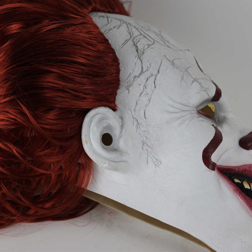 Wild realistic Pennywise mask Stephen king used to mask horror latex mask helmet clown Halloween party costume props