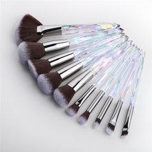 Fld diamante ventilador pincéis de maquiagem pó fundação sombra sobrancelha para rosto cosméticos compõem escova conjunto as como maquillajes