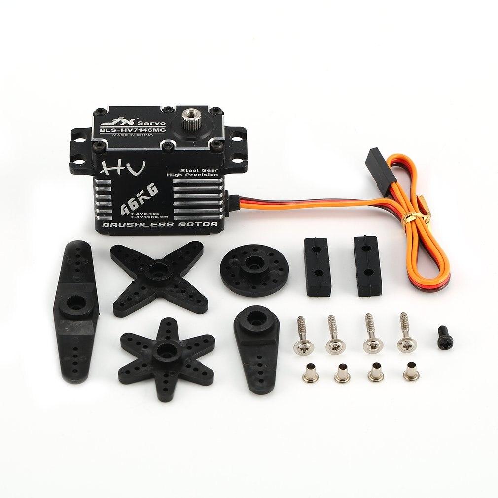 BLS-HV7146MG 46KG HV High Precision Steel Gear Full CNC Aluminium Shell Structure Digital Brushless Standard Servo RC Toy Parts
