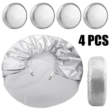 4pcs Spare Tire Cover Case Waterproof and Dustproof Car Tires Storage Bag Automobile Tyre Accessories Wheel Protector недорого