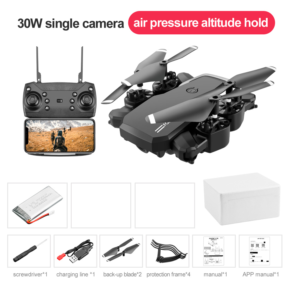 LF609 Mini RC Foldable drone With 4K HD Camera Wifi FPV Selfie Helicopter Altitude Hold Quadcopter Profesional Drones Kids Toys