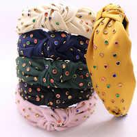 Mode Knoten Turban Haar Bands Für Frauen Jewel Stirnband Haarband Haarband Diademas Bordadas Haar Accessoires para el cabello