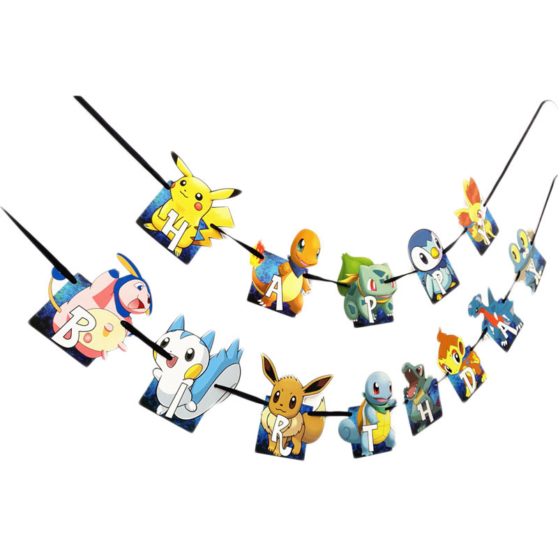 Pokemon Theme Pikachu Party Decoration Birthday Party Supplies Decoration Paper Plates Mask Baby Shower Supplies Tableware Sets