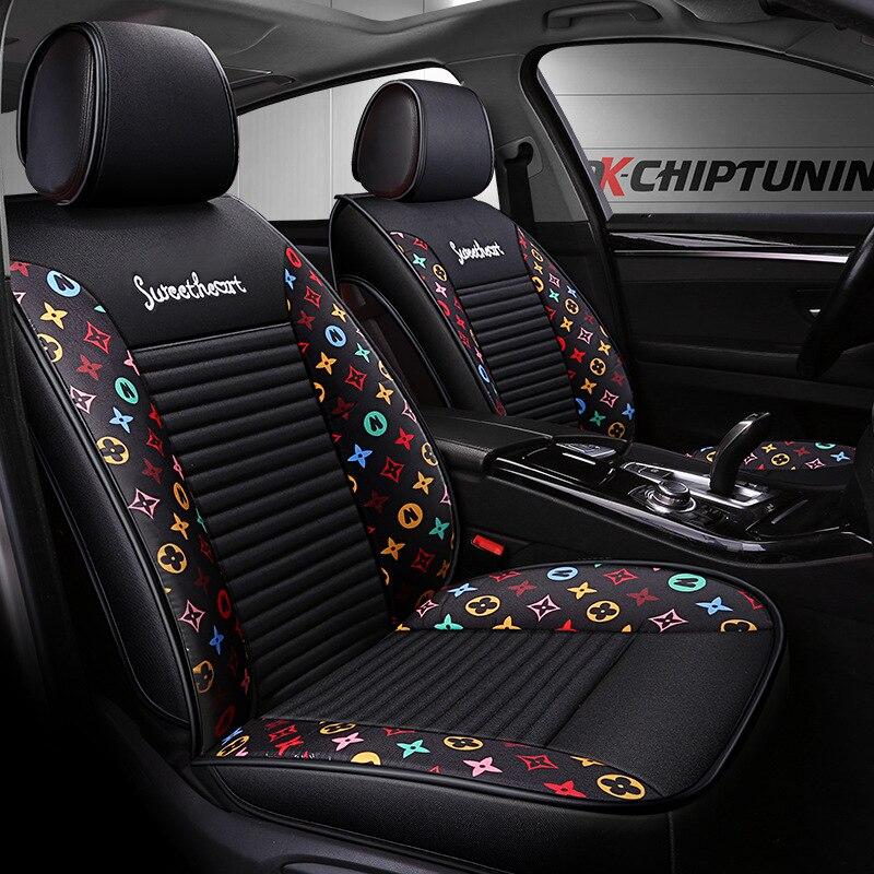 Cojín de asiento de automóvil de dibujos animados de lino nuevo estilo adecuado para Ford Mondeo BMW X1 fabricantes de almohadillas de asiento de coche venta directa D 94 - 2