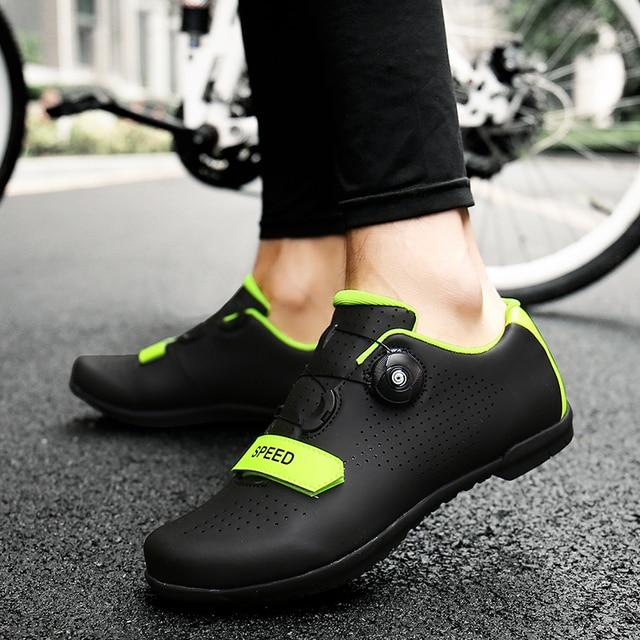 Ultraleve auto-travamento sapatos de ciclismo mtb profissional sapatos de grampo spd pedal de corrida de bicicleta de estrada sapatos planos tênis de bicicleta unisex 5