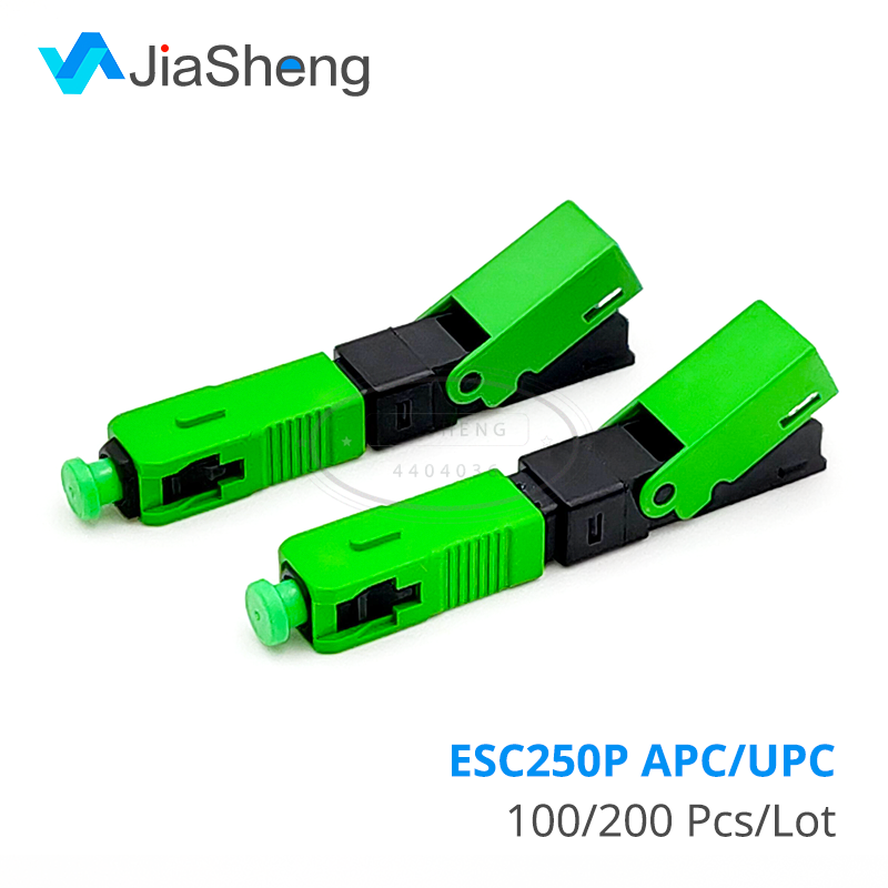 ESC250P 100 PCS/Lot SC APC SC UPC Fast Connector Mechanical Fiber Optic Connector