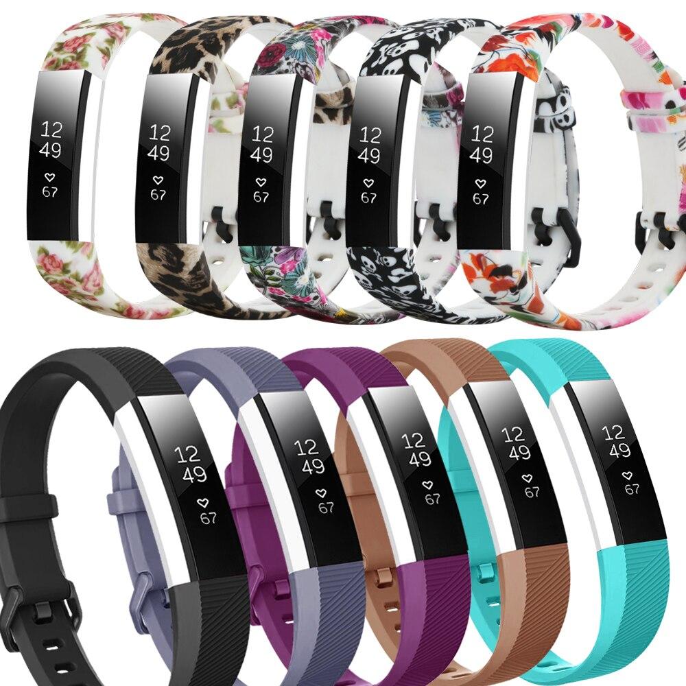 Honecumi para caber bit alta hr correias de alta qualidade substituição banda pulseira silicone pulseira de pulso para fitbit alta hr/alta