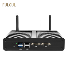 Fanless Mini Pc Intel Celeron N2810 J1800 J1900 Desktop Mini Sata Ssd Dual Lan DDR3L Hdmi Vga 4 * Usb 2 * Com 2 * Lan Windows 10 Wifi