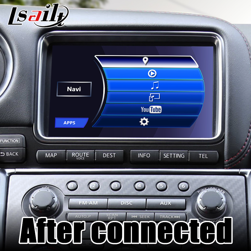 Android 7.1/9,0 carplay & navigation video interface unterstützung reverse kameras und android auto für 2008-2010 GTR GT-R R35