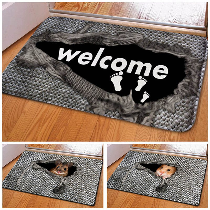 Cute Pattern Design Floor Mat Entrance Doormat Floor Rug Anti-slip Door Mat Bathroom Kitchen Mat Kitchen Carpet Home Decor image