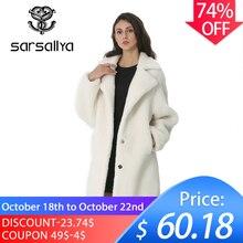 Invierno mujer abrigo de lana Cachemira mujer larga mezcla de abrigos de lana elegante chaqueta de otoño para señoras gruesa ropa de piel caliente chica 2019