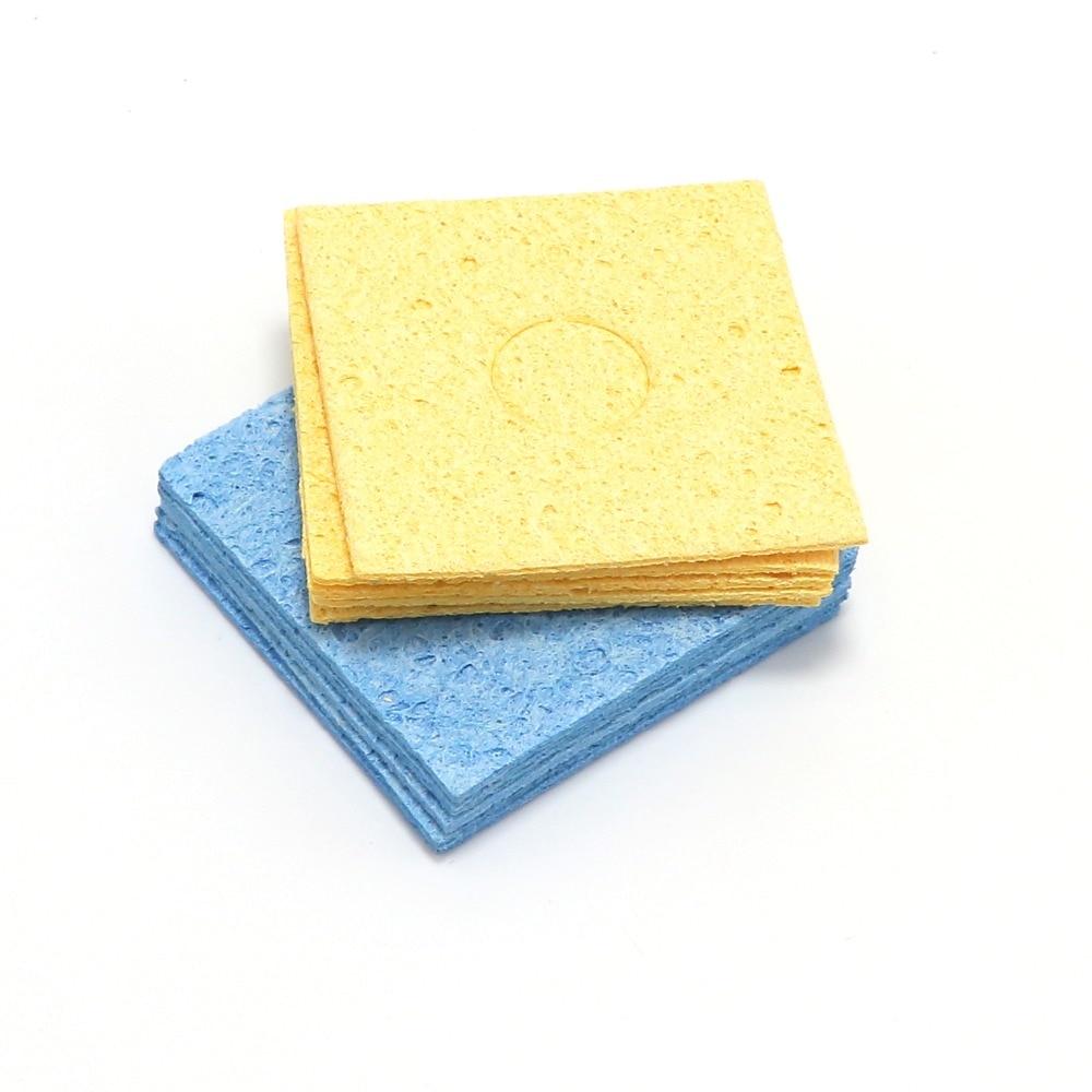 10X Soldering Iron Solder Tip Welding Cleaning Sponge Yellow New YelloNWUF