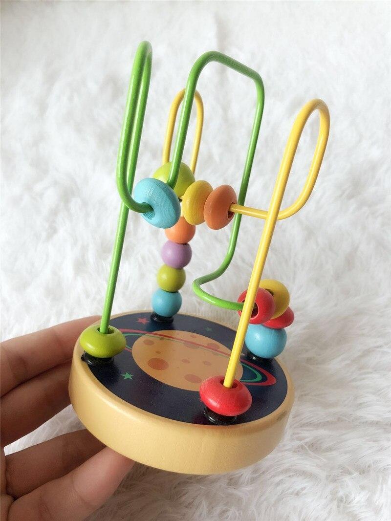 Mini jouet en bois à petit cordon 012 ans exercice Coordination main-oeil Animal jouet éducatif cognitif
