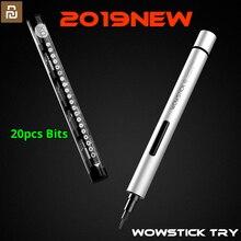 مفك براغي كهربائي Youpin Wowstick Try 20 في 1 مفك براغي كهربائي صغير محمول باليد لاسلكي مجموعة أدوات منزلية