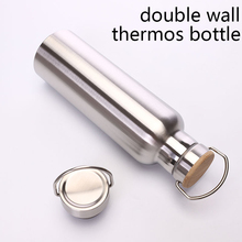 stainless steel thermos bottle double wall water bottle for travel camping hiking cycling cheap CN(Origin) LJJ0139B101 vacuum Straight Cup Vacuum Flasks 6-12 hours Thermos cup