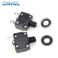 2 шт., тепловые автоматические выключатели 3A 4A 5A 6A7A 8A 10A 15A 20A 25A 30A, мини-размер, ТермоЗащита от перегрузки, кнопочный переключатель