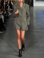 K&L kylen Army green straight long sleeved V neck jumpsuit women 2020 early autumn new street casual suit style jumpsuit shorts