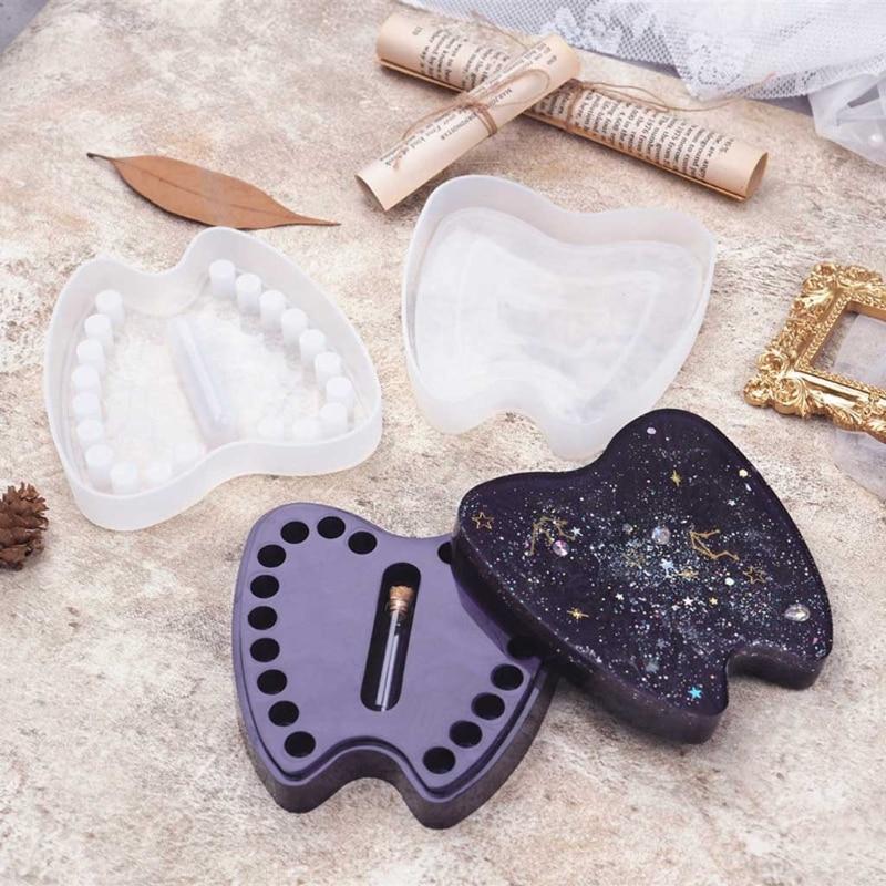 DIY Crystal Epoxy Resin Mold Deciduous Teeth Lanugo Memorial Box Storage Box Mirror Silicone Mold For Resin