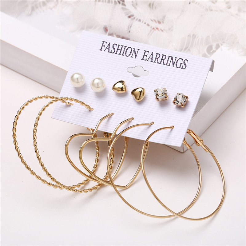 H6411b1723d1a40f6b5642ce378f84741T - IF ME Fashion Vintage Gold Pearl Round Circle Drop Earrings Set For Women Girl Large Acrylic Tortoise shell Dangle Ear Jewelry
