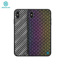 For iPhone XS Max Case iPhone X XS XR Cover NILLKIN woven polyester mesh Reflective Phone Case PC Back Cover for iPhone XS Max