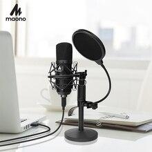 USB Bộ Micro 192KHZ/24BIT MAONO AU A04T PC Ngưng Tụ Podcast Trực Tuyến Mic Cắm & Microfono Cho Máy Tính youTube Chơi Game