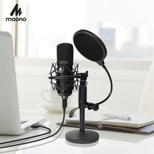 USB Microphone Kit 192KHZ/24BIT MAONO AU A04T PC Condenser Podcast Streaming Mic Plug&Play microfono for Computer YouTube Gaming