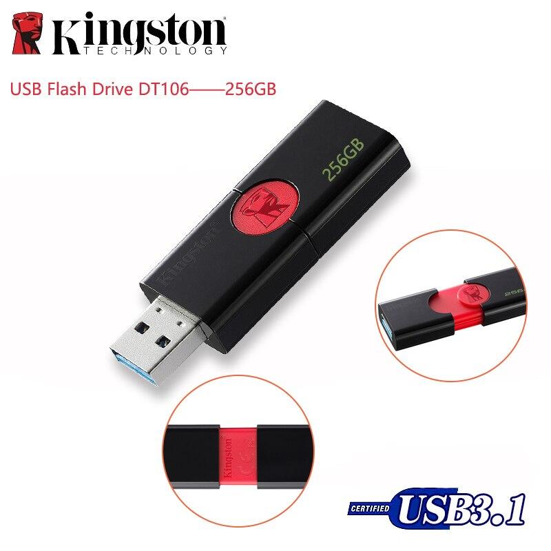 Kingston оригинальный USB флэш накопитель DT106 Флешка 256 ГБ USB 3,1 type A USB 3,0 карта памяти до 130 Мб/с Флешка u диск